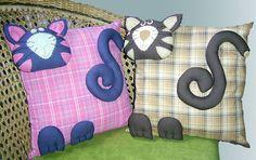 capas de patchwork almofadas de gatos - Pesquisa Google