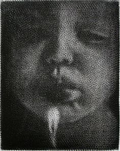 Evanescent, 2005. Mezzotint by Cleo Wilkinson, one of the a few artists working today in the mezzotint printmaking technique.