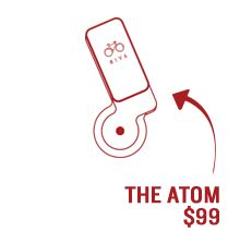 The Atom - efficient bicycle generator and rechargeable battery pack designed to power virtually any of your electronic or mobile devices via USB