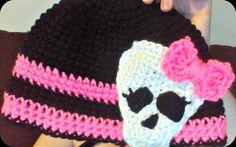 Monster High Crochet Beanie by FairyLillyCrochet on Etsy