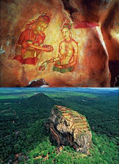 Sigiriya is an archaeological site in North Central Sri Lanka, contains the ruins of an ancient palace complex, built during the reign of King Kassapa (477AD-495 AD). The Sigiriya site consists of a 180m tall granite rock and at the top of the site there is a palace complex.