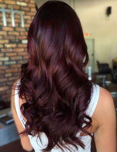 Long Curly Mahogany Hair