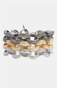 Tasha Link Bracelet available at #Nordstrom...ORDERED!!! (Two Silver...want to order one Pewter)...