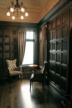 Masculine Interior, Classic Interior, Home Office Design, House Design, Design Room, Cigar Room, Hotel Lobby, Interiores Design, Interior And Exterior