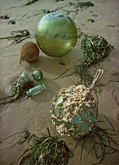 ◝◜ ོ︠ i hear Ꮥᴱᴬ gulls calling Okinawa, Glass Floats, Sea Glass Beach, Photos Voyages, Glass Ball, Beach Cottages, Beach Art, Beach Themes, Belle Photo