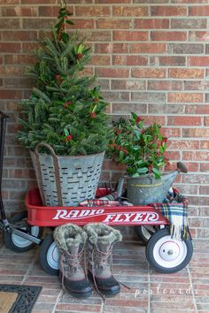 Lots of beautiful ideas for decorating your porch for Christmas. Styles include farmhouse, vintage, rustic, Victorian and more.