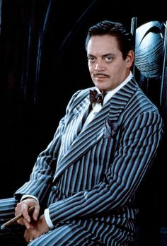 Addams Family Black and White pinstripes. Sharp, but also a little offputting by the strong color contrast.