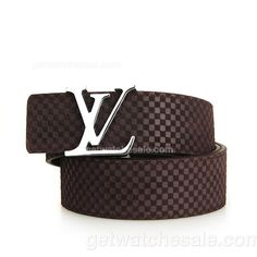 Louis Vuitton Men's Damier Calfskin Leather Belt , Polished Silvertone Initial LV Buckle, Dark coffee LV embossed calfskin leather lining;Set off your daily accessory with this cute belt from Louis Vuitton;Our Price: $79.00 and Free Shipping Worldwide.  www.getwatchesale.com/cheap-louis-vuitton-belts-on-sale-cb290.html link above shows plenty of louis vuitton damier belt