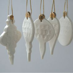 Ceramic baubles by Jo Heckett