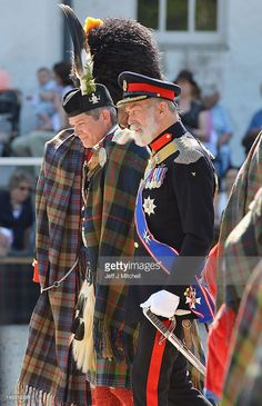 Bruce Murray the 12th Duke of Atholl and HRH Prince Michael of Kent attend the Atholl Highlanders Parade at Blair Castle on May 26, 2012 in Blair Atholl, Scotland. Bruce Murray succeeds his father the 11th Duke of Atholl, John Murray who passed away on the 15th of May in hospital in South Africa. The Atholl Highlanders date back to 1777, and hold a unique place in military records as the only private army in Europe.