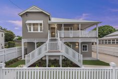 22 Dublin Street, Clayfield QLD 4011, Image 0 Exterior Stairs, Exterior House Colors, Front Stairs, Front Doors, Queenslander House, Dublin Street, Timber Flooring, Built In Wardrobe, Facade House