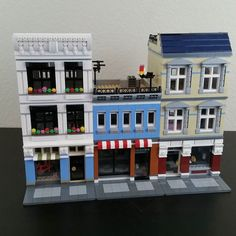 Here's all three of my most recently updated buildings for my #custom #lego #city #moc. #legophotography #legostagram #legos #architecture #afol by stringcheeseandapplesauce