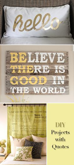 DIY Projects with Quotes • Tutorials and ideas for using words in your decorating!