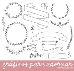 recursos molongos: gráficos para adornar | 17 free hand drawn doodles to use in your graphics
