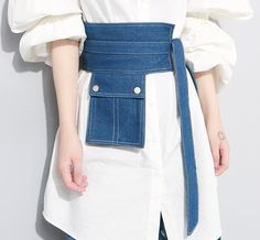 Material Denim Style Girdle Belt Occasion Going out , Casual Seasons Spring , Summer, Autumn , Winter Type Fashion Accessories Color Blue Length Fashion Belts, Denim Fashion, Fashion Brands, Fashion Outfits, Womens Fashion, Fashion Accessories, Denim Belt, Mode Jeans, Fashion Details
