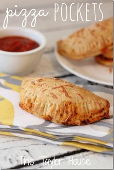 Make your kids and family Homemade Pizza Pockets using easy pizza dough!    Homemade Pizza Pockets, Pizza Dough, Pizza Dough Recipe