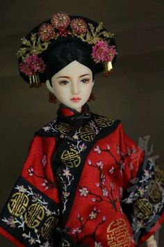 Chinese Fashion, Chinese Style, Barbie Clothes Patterns, Clothing Patterns, Asian Doll, China Dolls, Belgrade, Qing Dynasty, Hanfu