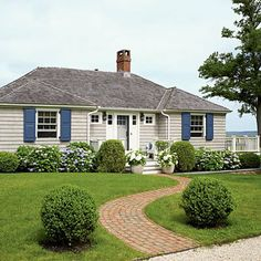 giving a ranch home a cottage look outside   Combined with the gray siding we'd like to change the color of the ...