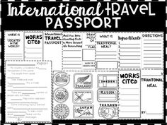 This product was designed to help engage students while they learn about cultures around the world. It has been developed with differentiation in mind, guided report, pamphlets and short passages. It can be used in class to model research and note-taking, sent home as a out-of-school assignment, or