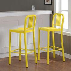 Metal Lemon Bar Stools (Set of 2) | Overstock.com Shopping - Great Deals on Bar Stools