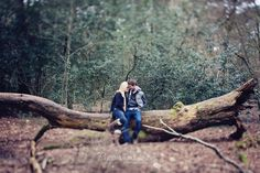 woodland engagement photos
