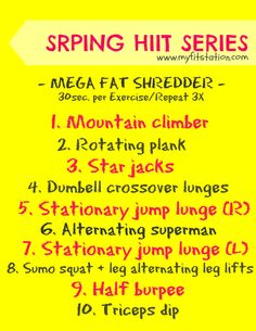 The Spring HIIT Series: Mega Fat Shredder Workout!
