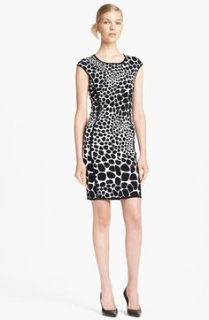 Free shipping and returns on Michael Kors Giraffe Pattern Knit Dress at Nordstrom.com. A form-fitting knit dress puts a graphic spin on black-and-white giraffe spots while prominent seams carve enviable hourglass lines.