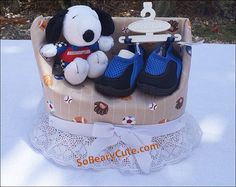 Items similar to Snoopy Sports Diaper Cake Chair on Etsy Sports Diaper Cakes, Baby Snoopy, Peanuts Movie, Koala Kids, Charlie Brown And Snoopy, Baby Gifts, Children, Creative, Etsy