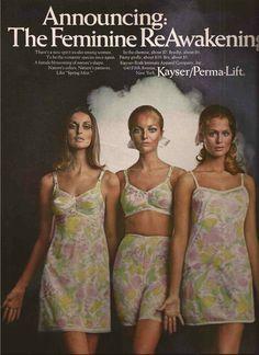 Lingerie spring is a long time away, but I like the flower motif here. Classic Lingerie, Retro Lingerie, Lingerie Photos, 1960s Fashion, Vintage Fashion, Women's Fashion, Vintage Underwear, Vintage Girdle, Lingerie Catalog