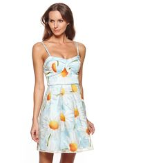 MINUET Floral Sweetheart Neckline Dress