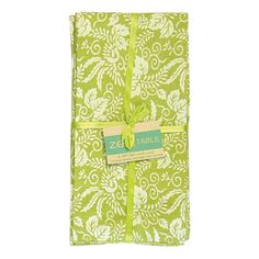 Kyoto Olive Napkins (Set of 4) -  This product helps support sustainable education, reforestation, organic farming, community empowerment projects, and contributes to the GreenSchool Bali scholarship fund.