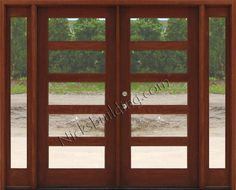 """... Modern Exterior Doors AC501 AC 501 in 6' 8"""" or 7' 0"""" $3265. AC508 is 8' 0"""" $4710. Clear Glass or Rain Glass"""