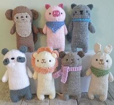 Knitting Patterns for Baby Ravelry: Knit Baby Animal Set knitting pattern by Amy Gaines