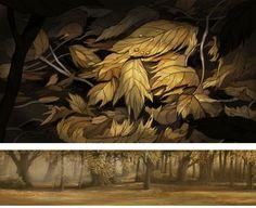 Artes da minissérie Over the Garden Wall, da Cartoon, por Nick Cross | THECAB - The Concept Art Blog