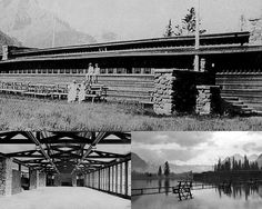 Historical images of the Banff pavilion, which was demolished in 1939