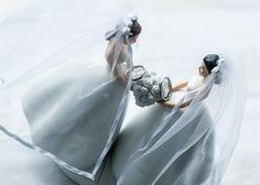 Arecibo, PUERTO RICO :: Elizabeth These adorable bride figures looked amazing on Elizabeth and Ariana's cake table. #LGBT #wedding #PuertoRico #Arecibo #Lesbian #destination #decorations  www.rinconimages.com LGBT friendly wedding photographer Puerto Rico.