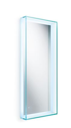 This uniquely styled WS Bath Collections Speci Glass Framed Vanity Wall Mirror with LED Light adds modern elegance to your bathroom décor. Vanity Wall Mirror, Modern Contemporary Design, Eclectic Bathroom Mirrors, Mirror With Led Lights, Beveled Mirror, Led Light Design, Acrylic Furniture, Mirror Wall, Ws Bath Collections