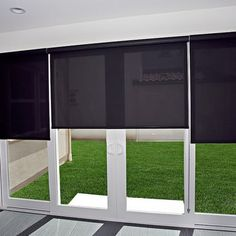 Roller shades on a sliding glass door - Yelp