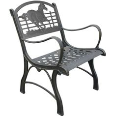 Running Horse Cast Iron Chair