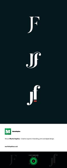 © Martin Hopkins Design, Cardiff - JF Monogram Logo Mark Brand Design