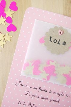 About the nice things: Invitación Cumpleaños Lola