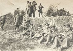 Passchendaele blog from the trenches: https://justinfoxafrica.wordpress.com/category/blog/ Caption: Grandpa Bertie (second from the right) seated with other officers behind the lines. I have just seen this photo for the first time – the only one of Grandpa in the war – and am still trying to process it.