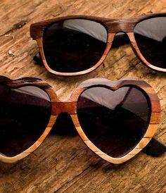 leuke houte liefdesbrillen #bruiloft Wood Sunglasses