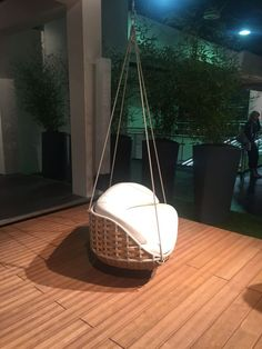 Perfect hanging chair for porch