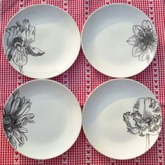 Hand Illustrated Side Plate