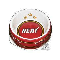 Miami Heat Dog Bowl#petlover#dogaccessories#dogdiy