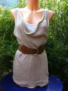 Leichter, luftiger Longpulli aus Seidenmischgewebe, gefertigt auf der KH 260