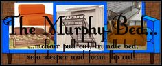 Murphy Bed, Mohair pull out, Trundle Bed, Sofa Sleeper & Foam flip out!