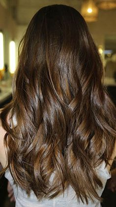 Chocolate brown hair