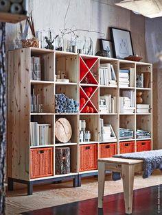 Meubles bois (Pin) brut IKEA - collection NORNÄS, imaginée par Marianne et Knut Hagberg